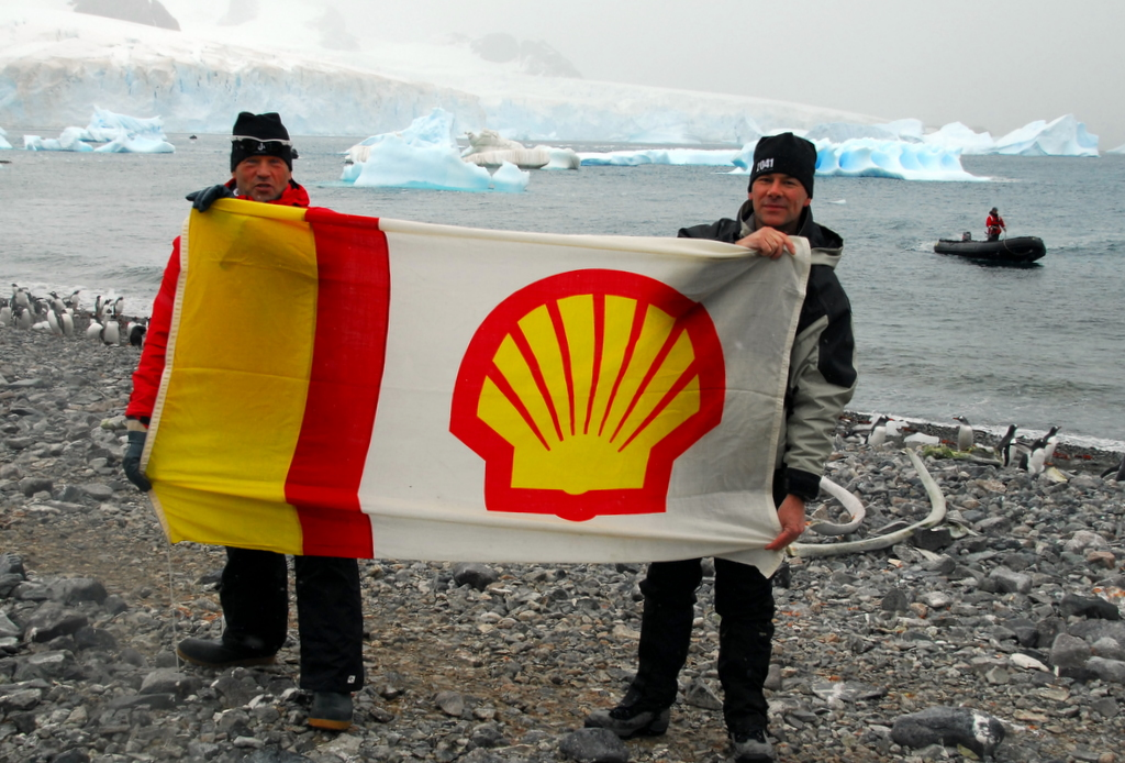 David and Robert Swan on the Antarctic Peninsula