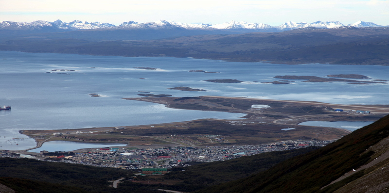 Ushuaia Airport in the Beagle Channel