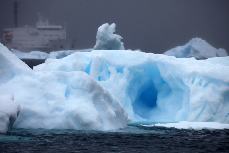 Glacial ice litters the Weddell Sea