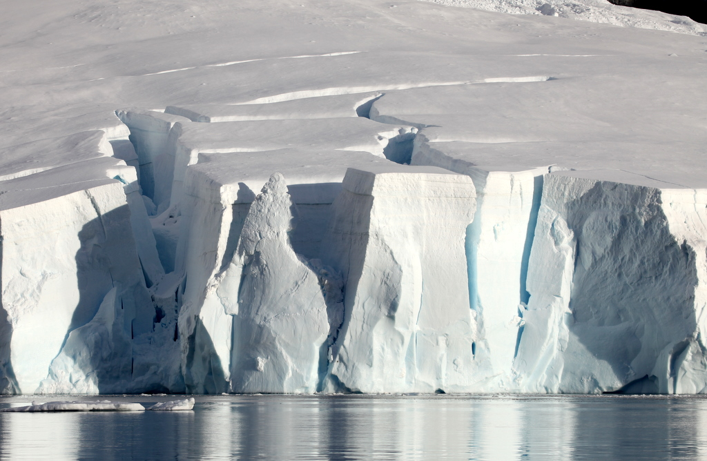 A glacier face in Paradise Harbour