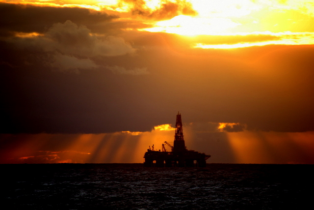 Oil, gas (and now CO2) rigs can be seen in the Norwegian North Sea
