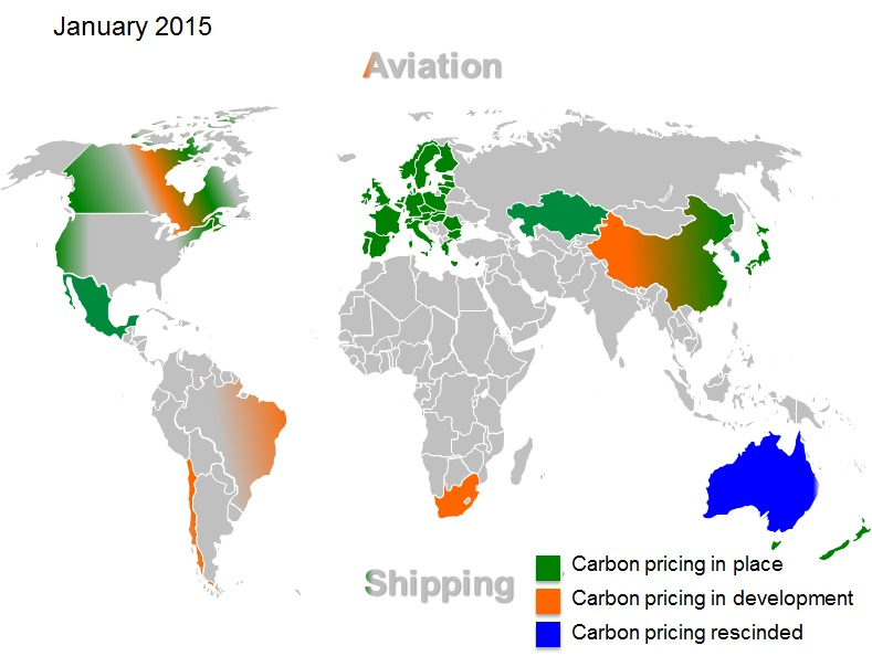 Emission trading systems around the world