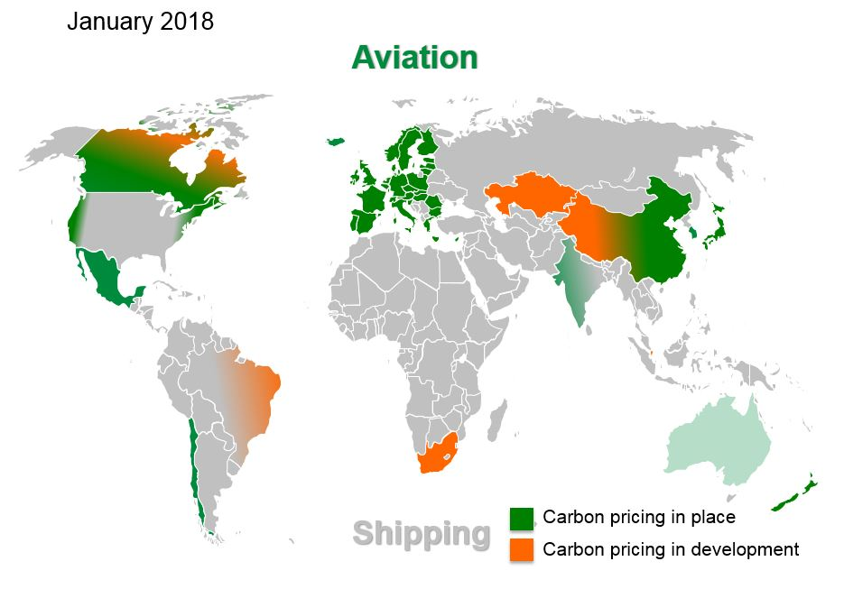 2018 Carbon Pricing Status